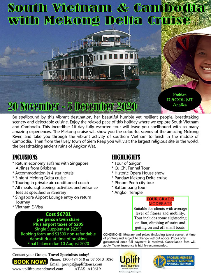 South Cambodia and Vietnam Tour