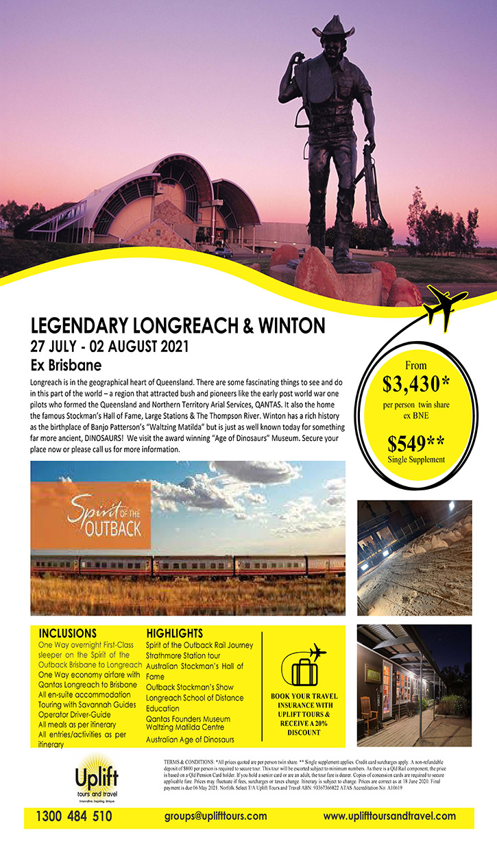 Longreach & Winton Tour Itinery